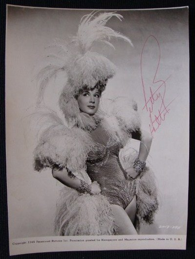 4: BETTY HUTTON SIGNED PHOTOGRAPH