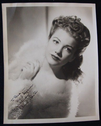 7: ANNE BAXTER SIGNED PHOTOGRAPH