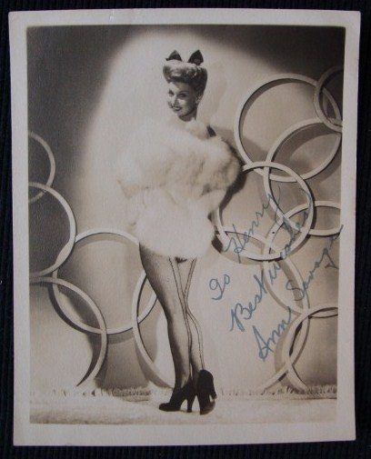 8: ANN SAVAGE SIGNED PHOTOGRAPH