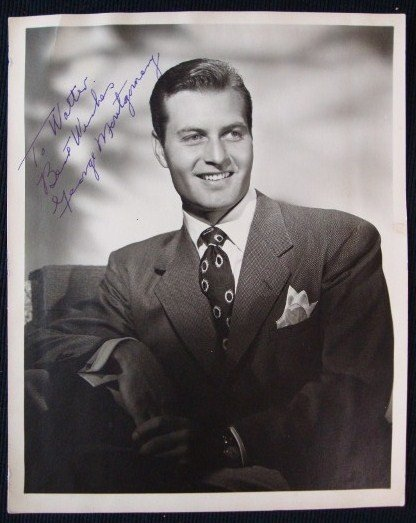 12: GEORGE MONTGOMERY SIGNED PHOTOGRAPH