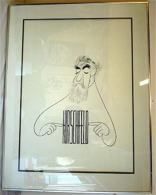 1138: AL HIRSCHFELD; PEN AND INK DRAWING SIGNED