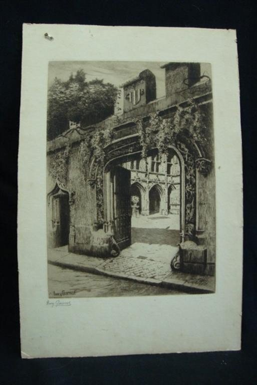1243: LUCY GARNOT PENCIL SIGNED ETCHING