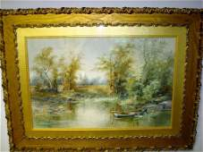 616 GEORGE HENRY SMILLIE WATERCOLOR PAINTING SIGNED