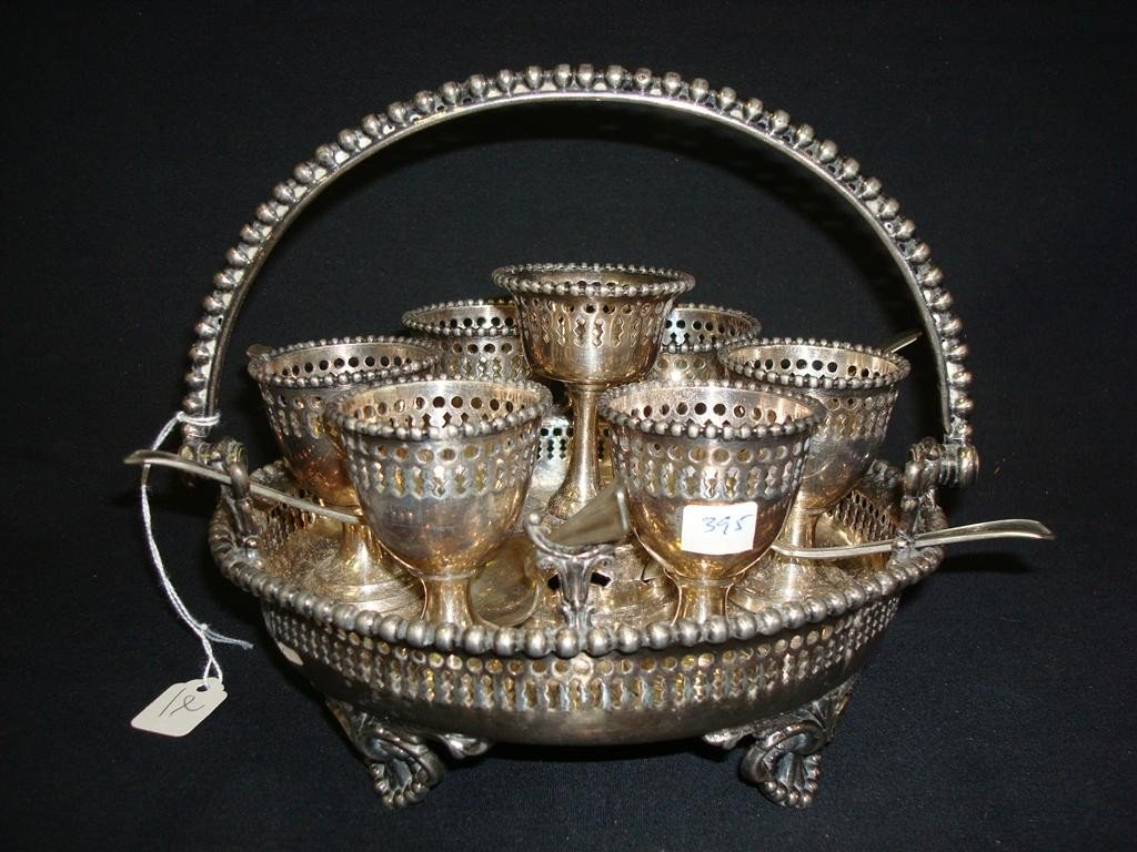 2: VICTORIAN SILVER PLATED EGG CADDY
