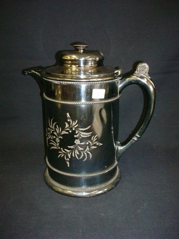 3: LARGE FORBES SILVERPLATE WATER POT