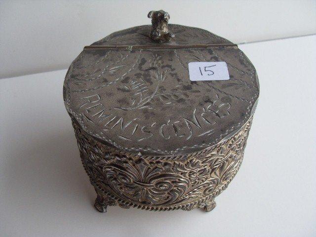 15: AMERICAN VICTORIAN SILVERPLATE TREASURE BOX