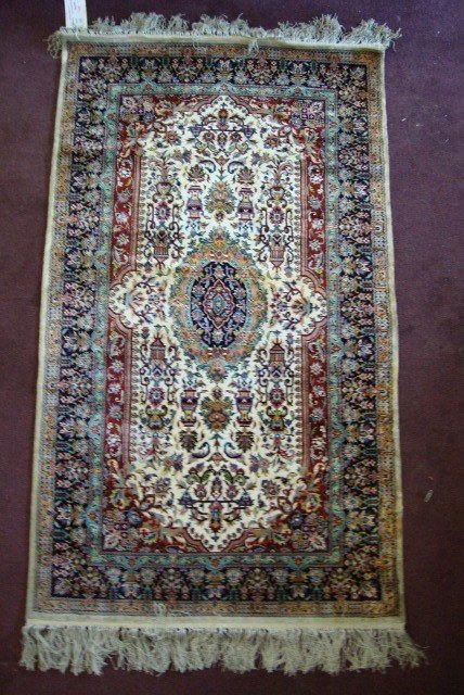 290: PERSIAN SILK DOUBLE ENDED PRAYER RUG