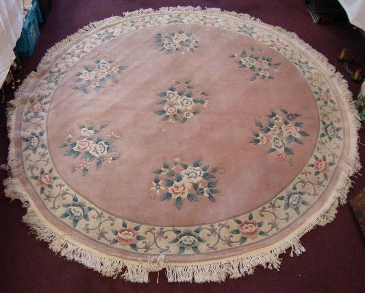 291: CHINESE AUBUSSON FLORAL RUG