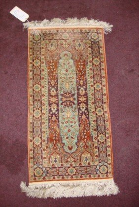 SEMI-ANTIQUE SILK HEREKE RUG