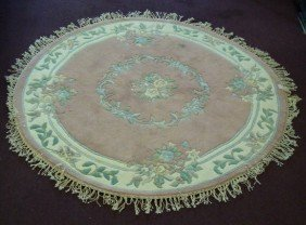 AUBOSSON DESIGN ROUND CARPET