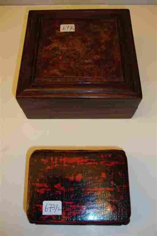 673: 18TH C. SCHOLAR'S SOAPSTONE SEAL SGD. & A STAND