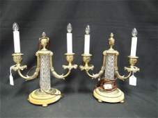 819 PAIR OF PAIRPOINT CANDLE LAMPS
