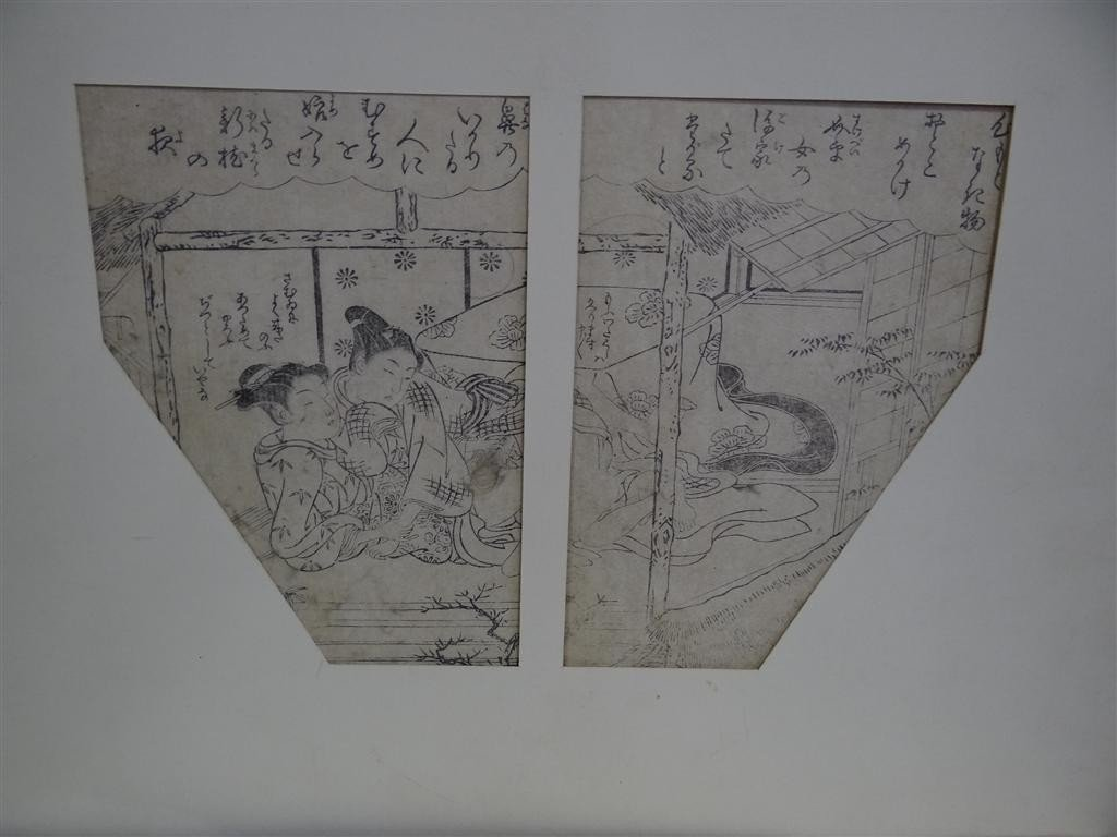 897: 18TH C. SHUNGAS EROTIC PAGES (4) - 3