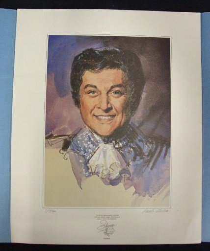 8: LIBERACE LITHOGRAPH BY PAUL MELIA