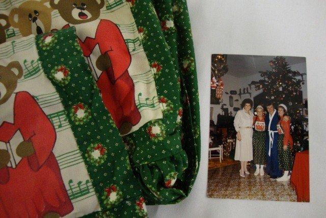 19: TWO CHRISTMAS APRONS & PHOTO