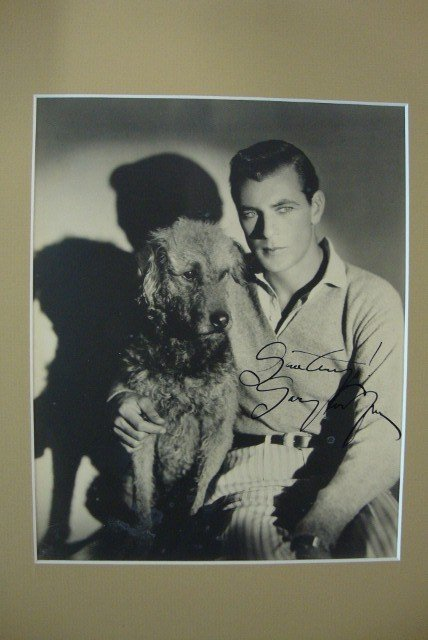 149: EARLY SIGNED GARY COOPER PORTRAIT