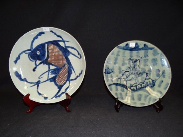 3: TWO ORIENTAL PORCELAIN SHALLOW DISHES