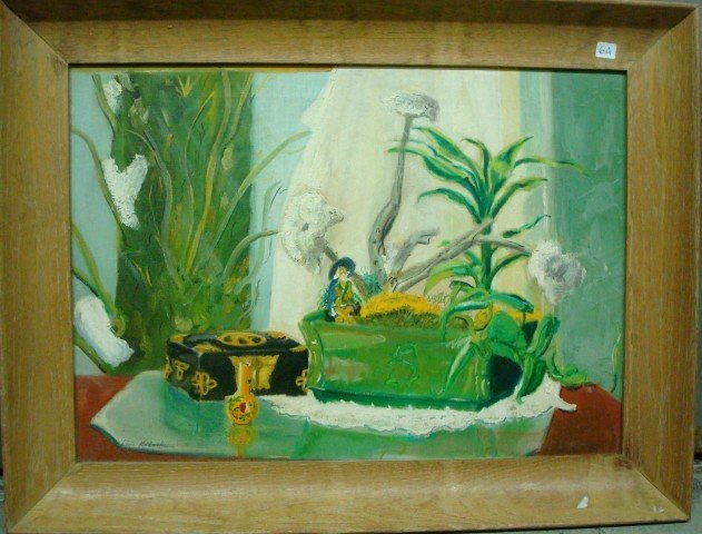 6A: Oil Still Life Signed L. Wolchonock