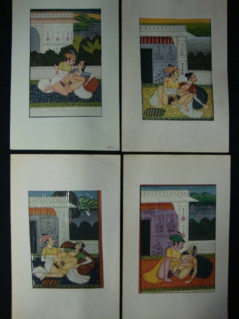 349: Four Erotic Persian Illuminated Pages