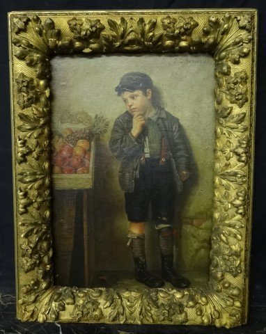 229: John G. Brown; oil painting signed
