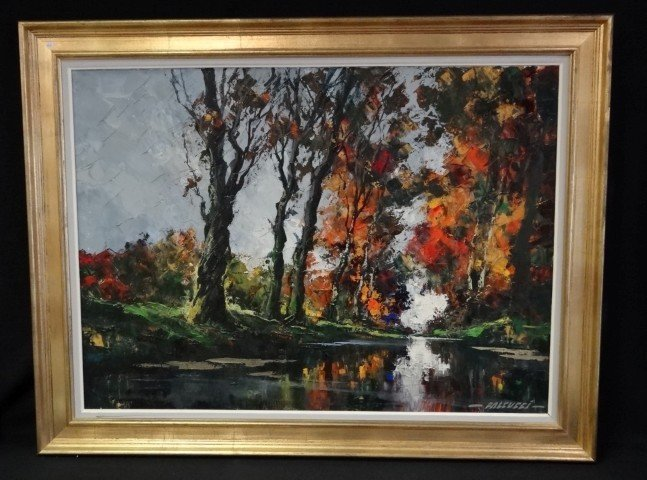 62: Robert Falcucci; oil painting signed
