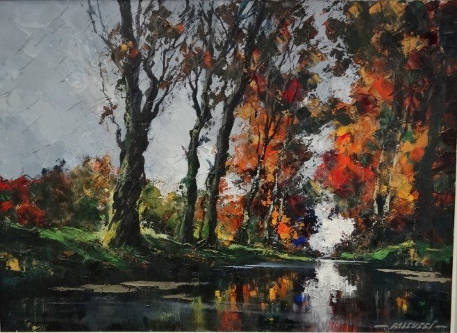 62: Robert Falcucci; oil painting signed - 2