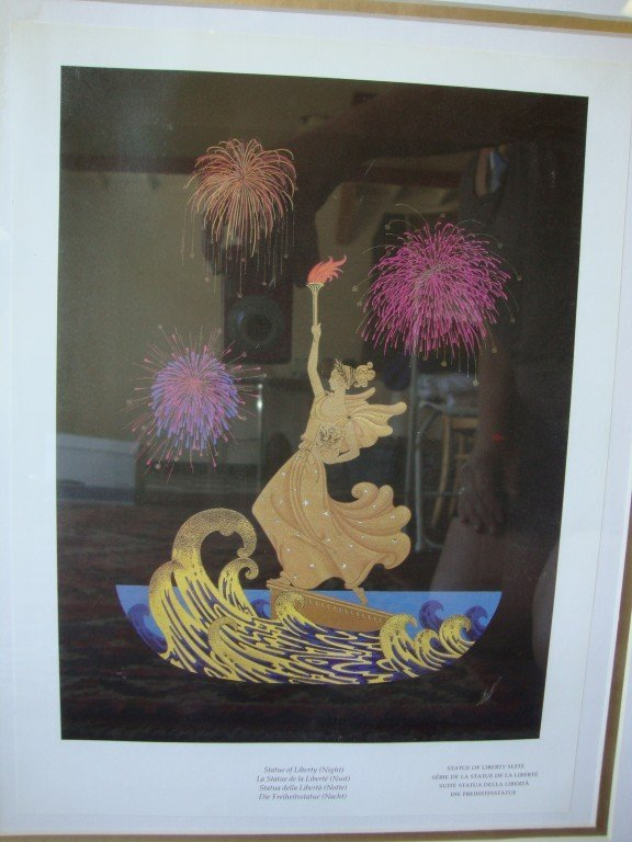 552: Two Erte Statue of Liberty Prints, Night and Day - 3