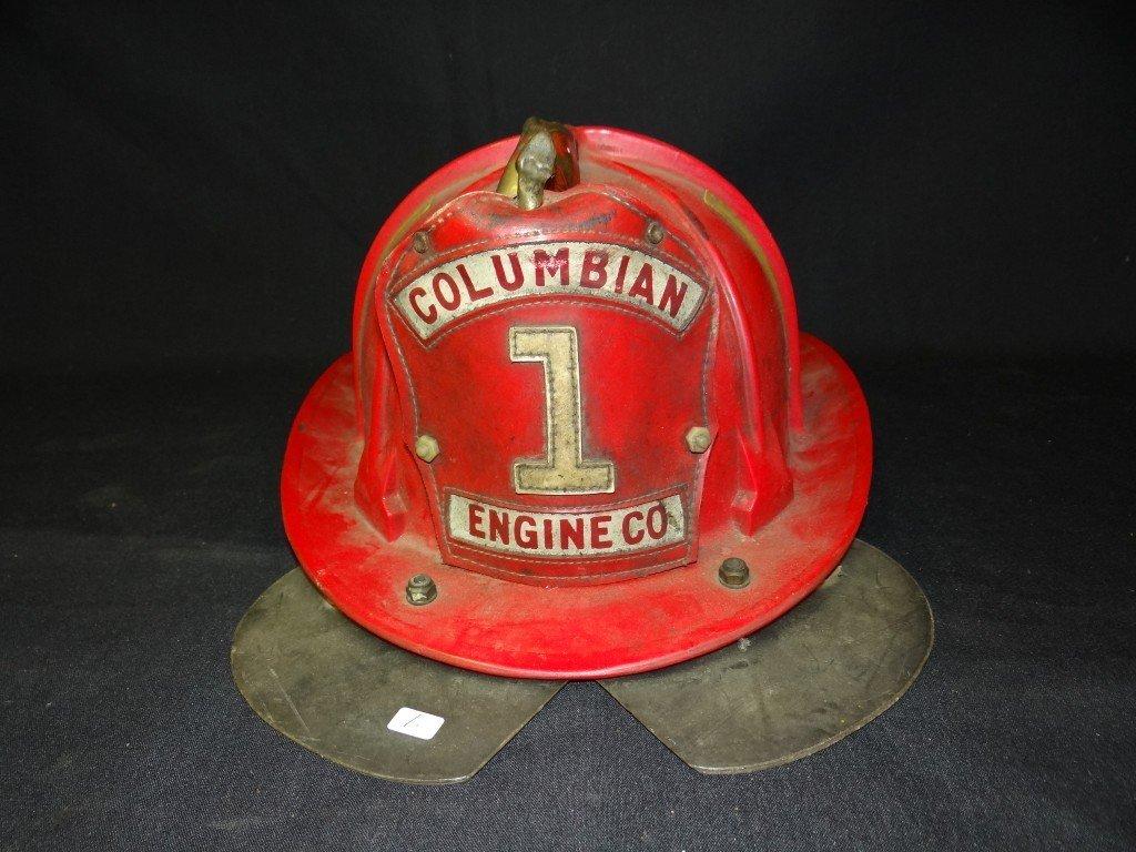 1: Columbian Engine Co. 1 fireman's helmet