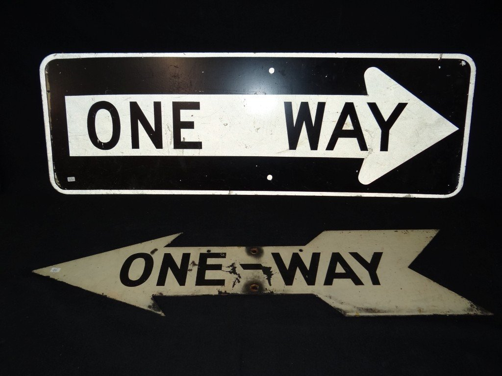 2: Two(2) NYC vintage street signs