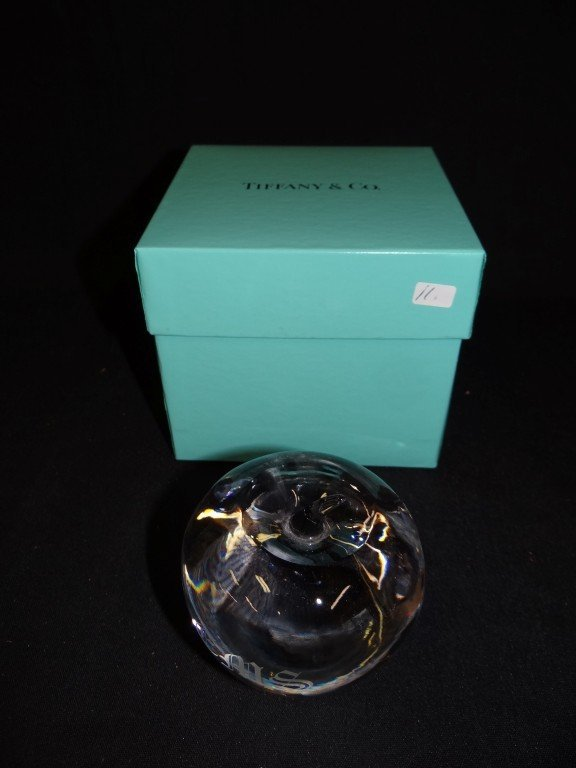 11: Tiffany & Co. crystal paperweight
