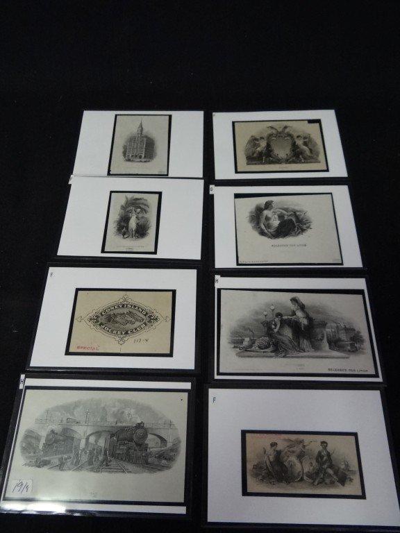 19: Eight(8) original treasury bond engravings