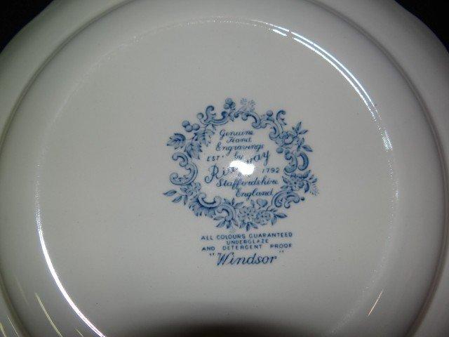 382: Ridgway Staffordshire  Windsor Dinner Service - 3