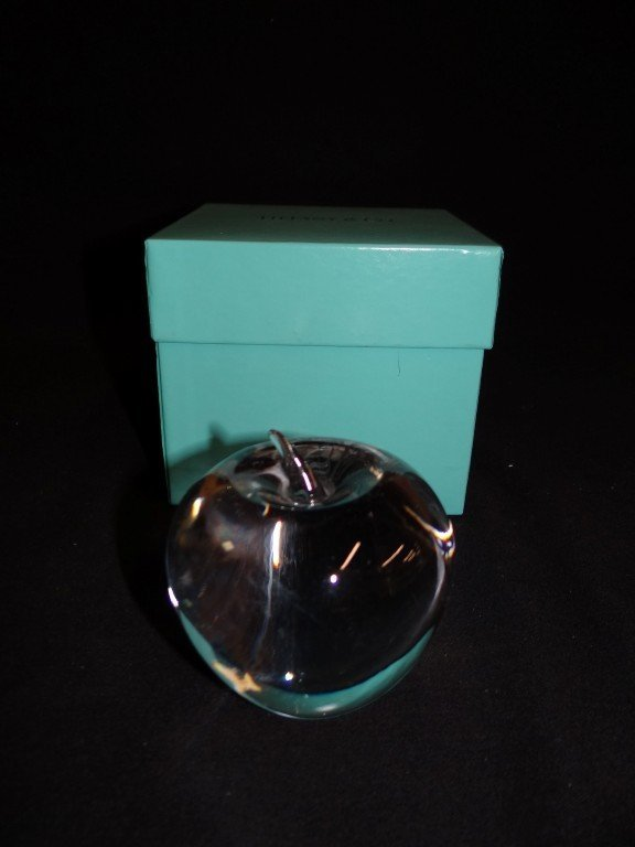1: Tiffany and Company Apple Paperweight