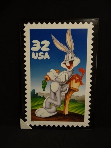 4A: US Postage stamp poster