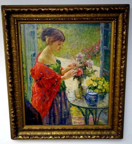 287: Richard Miller; American oil painting signed
