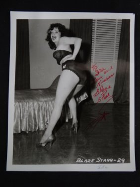 Blaze Starr Signed Photograph