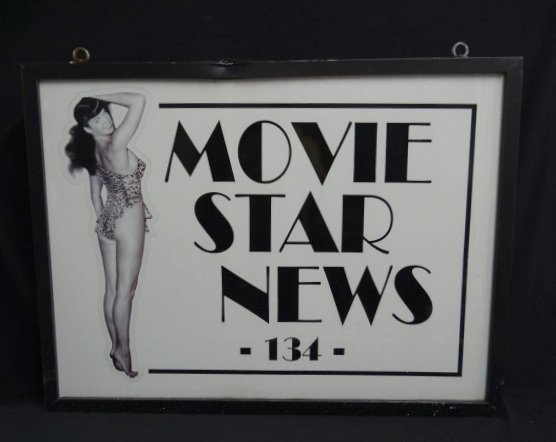 Movie Star News Sign