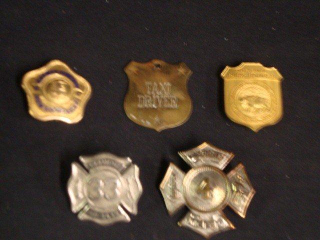 Fireman's Badges (5)