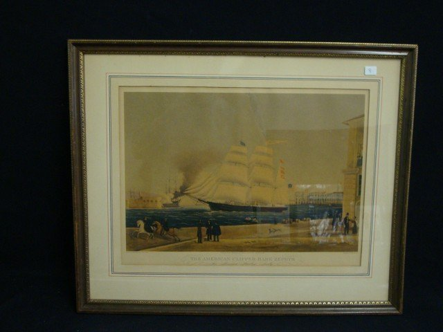 Bygrave Lithograph - The Ship Zephyr