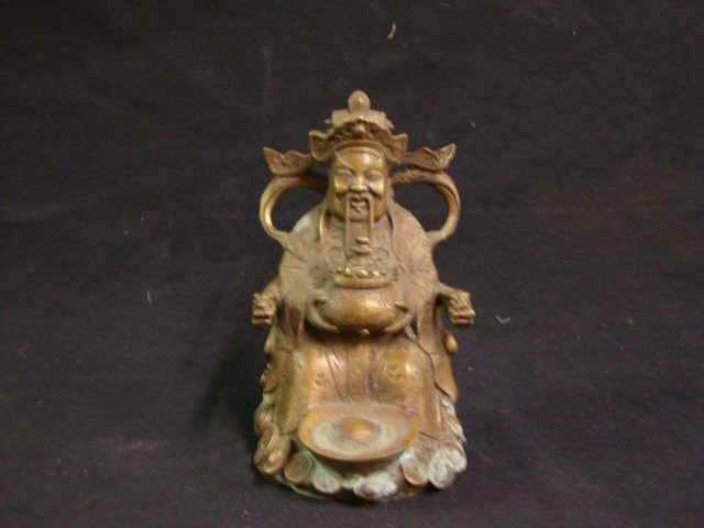 Bronze Figure of a Chinese Emperor