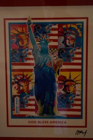 Autographed Peter Max Print