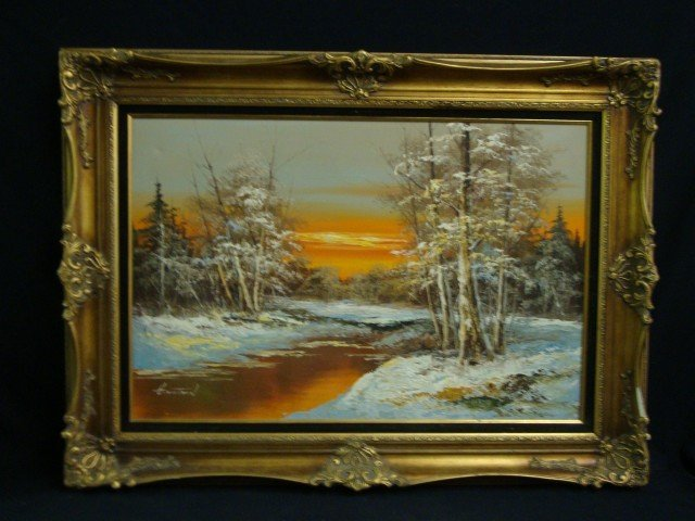 Oil painting signed g whitman Paintings that are worth a lot of money