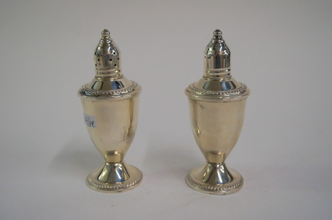 Pair of Sterling silver salt and peppers