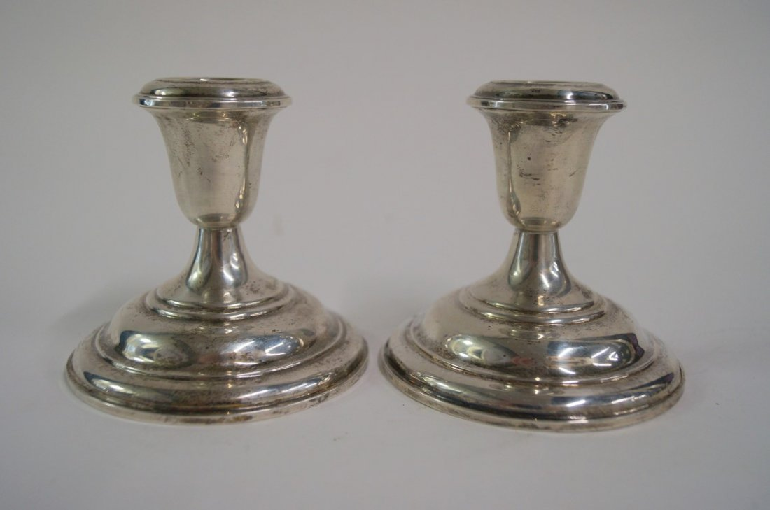 Pair of S. Kirk and Sons sterling silver candlesticks