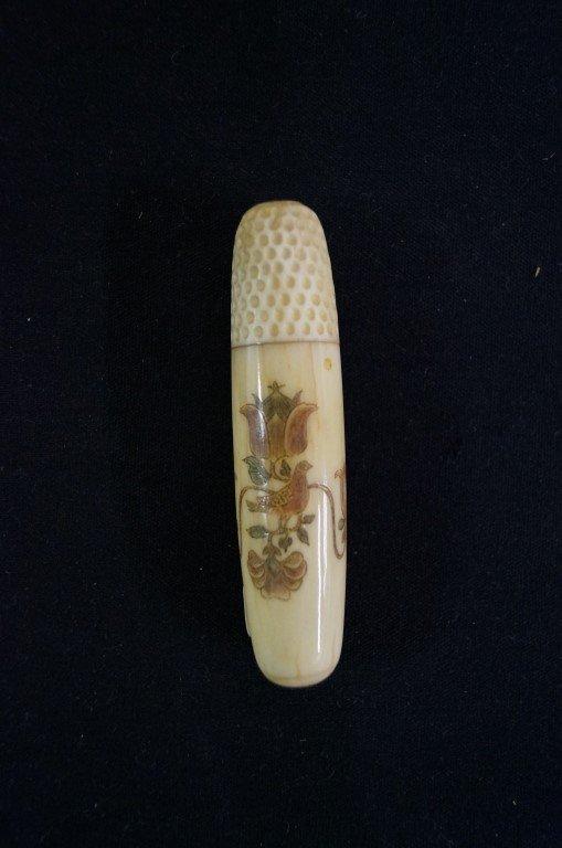 Marine Ivory Needle Case