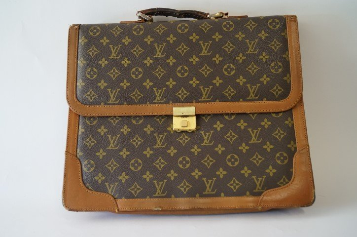 Louis Vitton leather briefcase