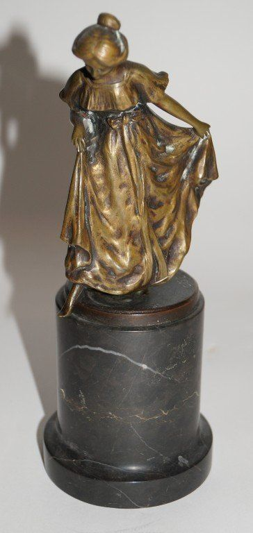 Aotsch; 19th C. bronze figure signed