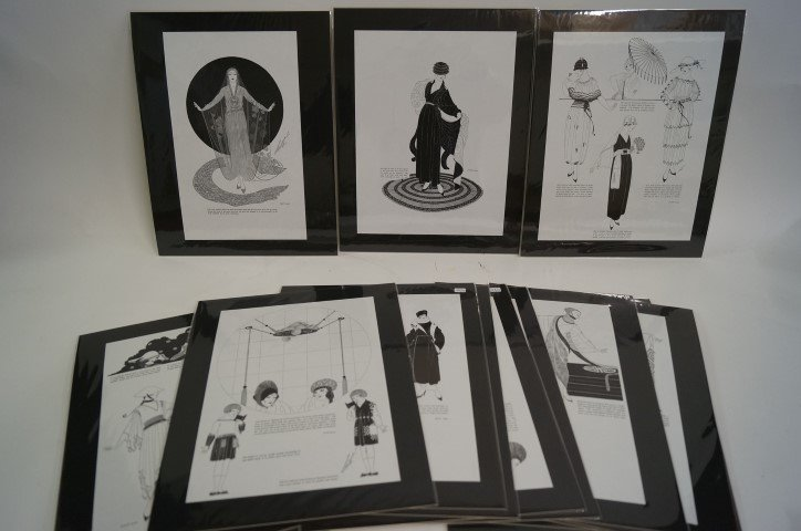 Lot of fifteen(15) Erte prints