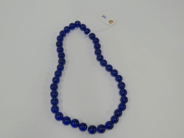 Chinese peking glass bead necklace