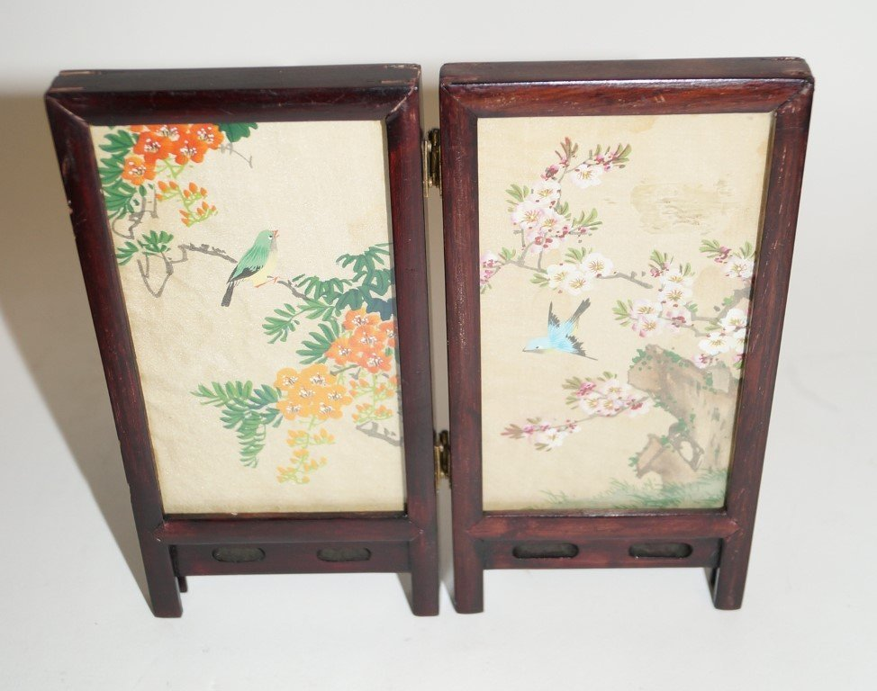 Oriental Two Panel  Cabinet Screen